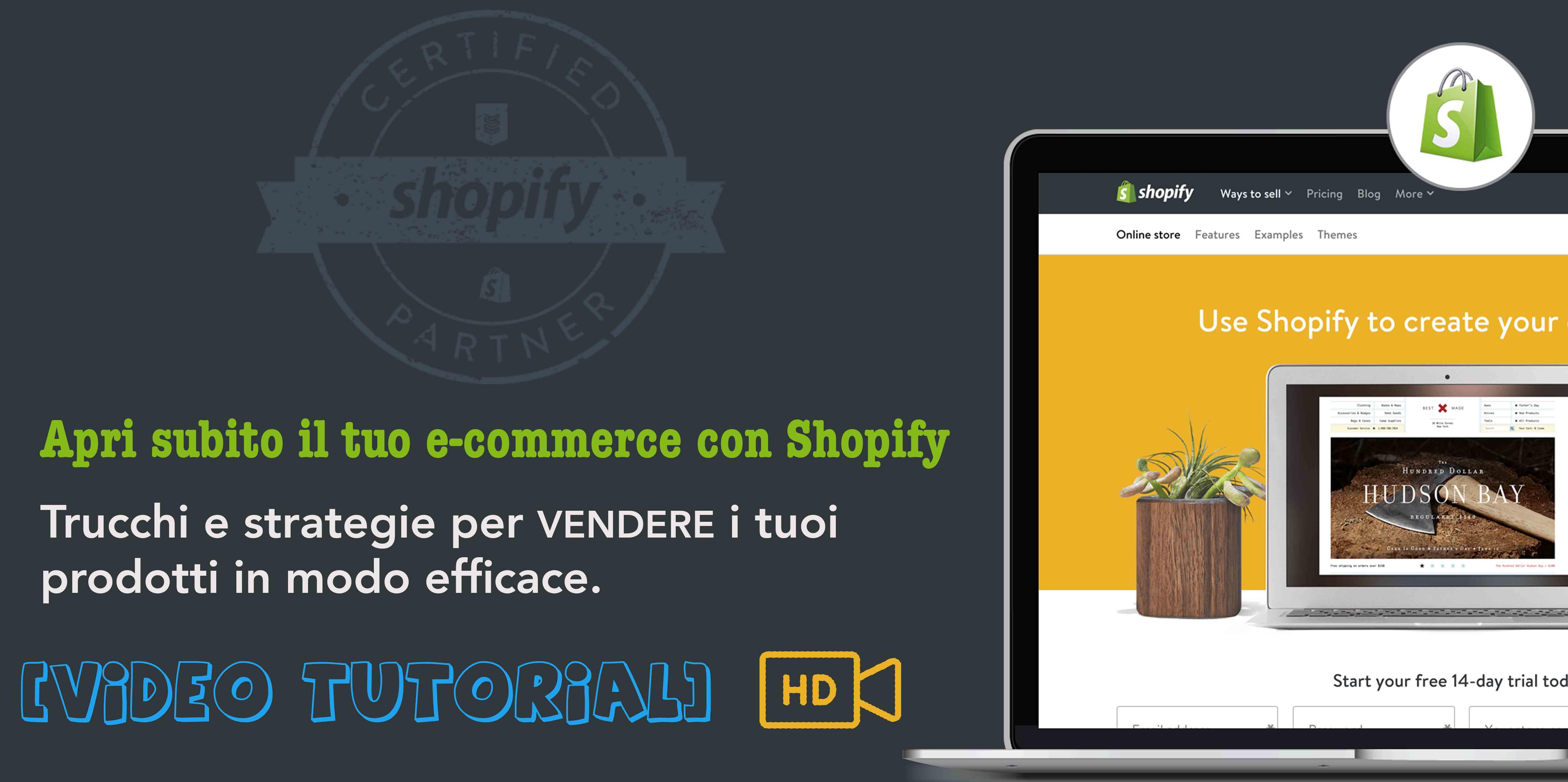 Aprire un ecommerce Shopify
